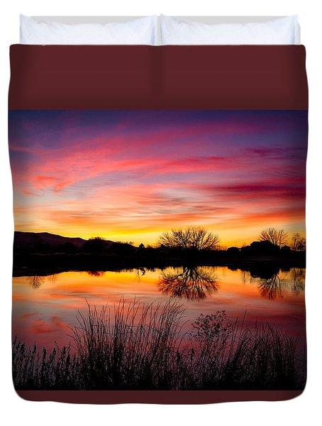 Stunning Pink Sunset Duvet Cover