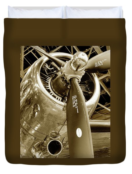 Stunning Propeller In Sepia Duvet Cover