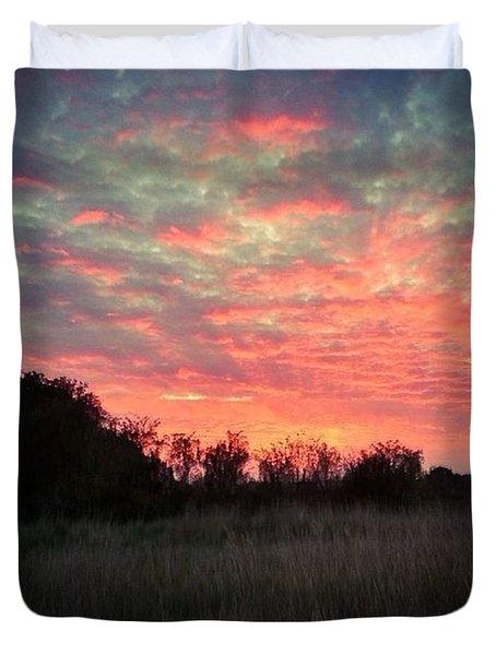 Stunning Sunset Last Night! Duvet Cover