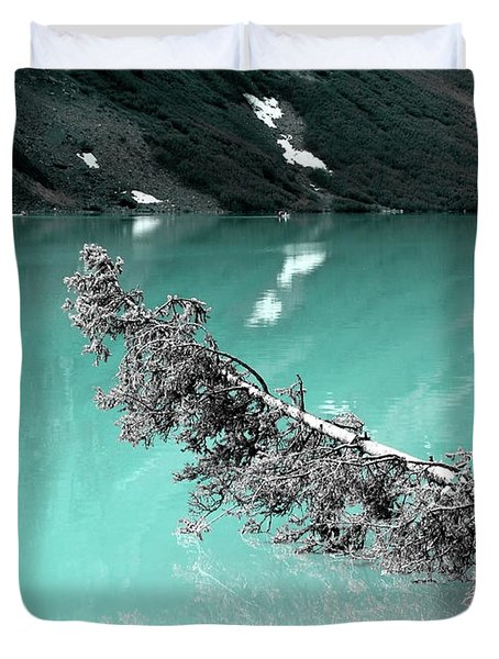 Stunning Turquoise Glacial Lake Duvet Cover