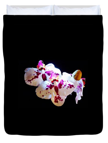 Stunning Twin Orchids Duvet Cover