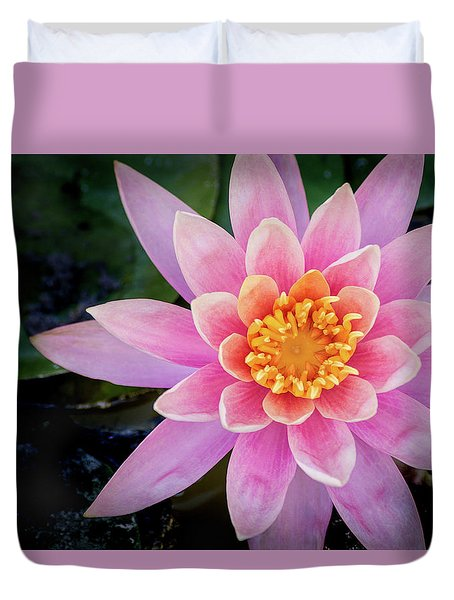 Stunning Water Lily Duvet Cover