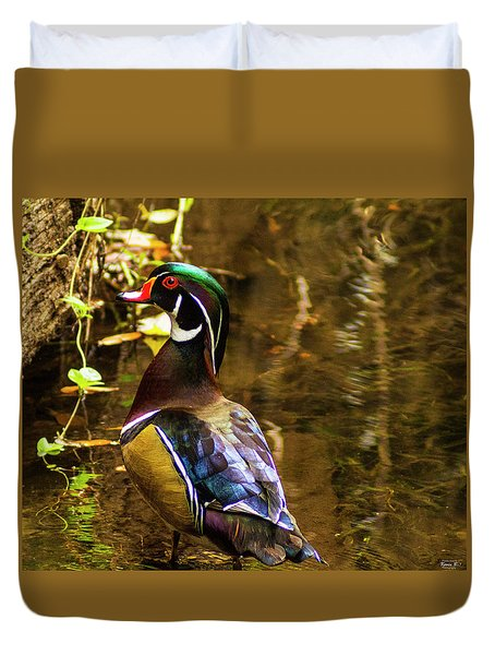 Stunning Wood Duck Duvet Cover