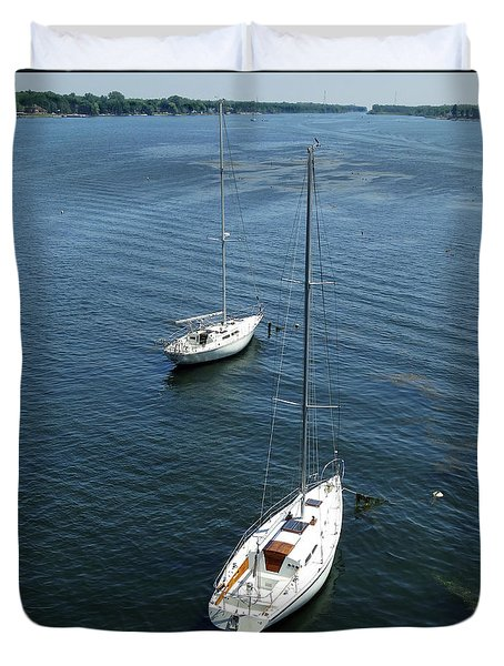 Sturgeon Bay Canal Duvet Cover
