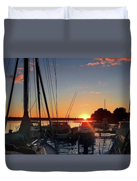 Sturgeon Bay Sunset Duvet Cover