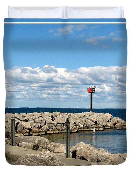 Sturgeon Point Marina On Lake Erie Duvet Cover