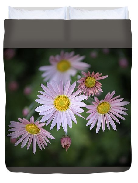 Stylized Daisies 1 Duvet Cover
