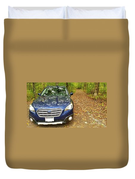 Duvet Cover featuring the photograph Subaru Touring Off The Beaten Path by Ricky L Jones