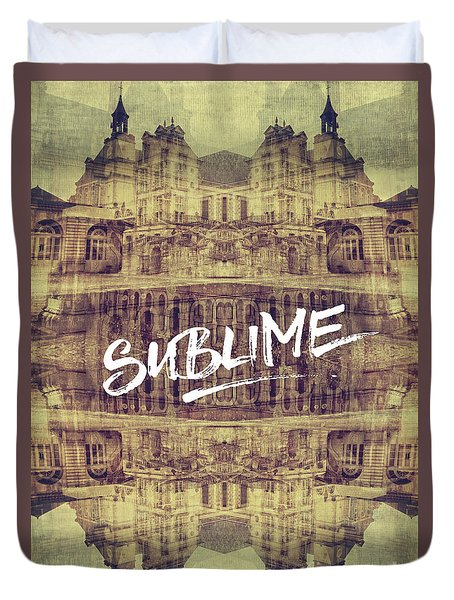 Sublime Fontainebleau Chateau France French Architecture Duvet Cover