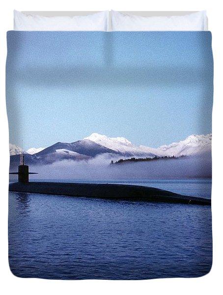 Submarine-us-navy-uss-kentucky Duvet Cover