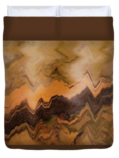 Submerged Railroad Tie Duvet Cover