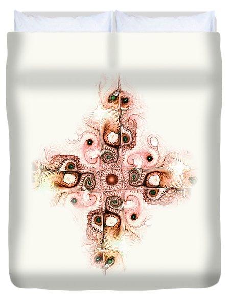 Subtle Cross Duvet Cover by Anastasiya Malakhova