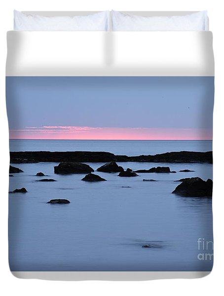 Duvet Cover featuring the photograph Subtle Sunrise by Larry Ricker
