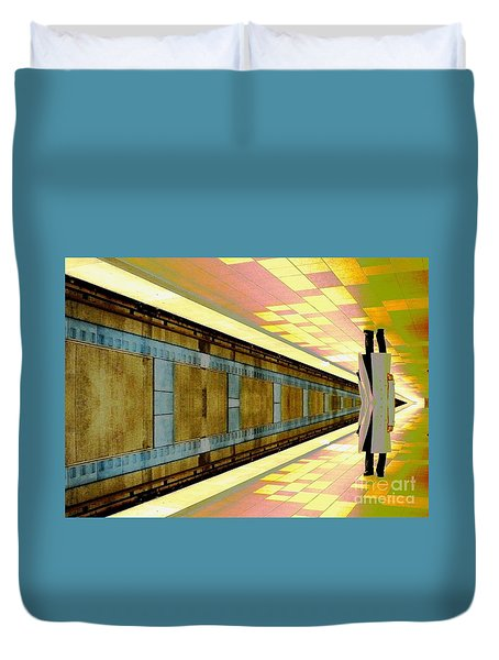 Subway Man Duvet Cover