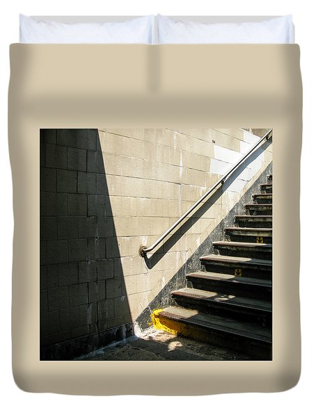 Subway Stairs Duvet Cover