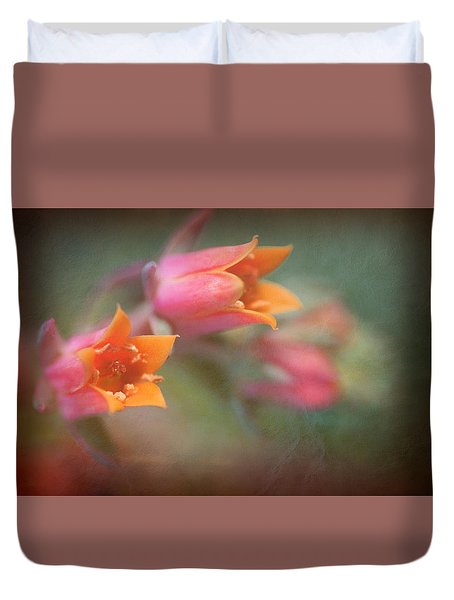 Succulent Flower Duvet Cover by Catherine Lau