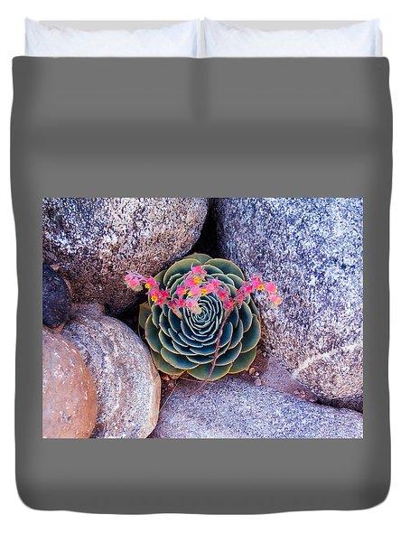 Succulent Flowers Duvet Cover