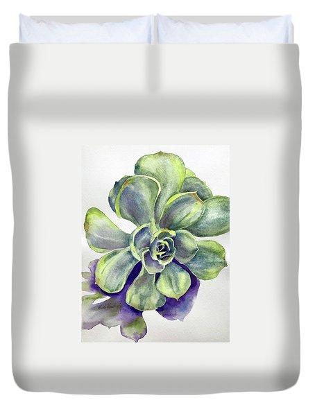 Succulent Plant Duvet Cover