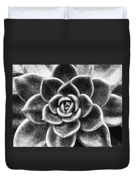 Succulent Symmetry Duvet Cover