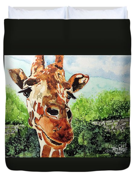 Such A Sweet Face Duvet Cover by Tom Riggs