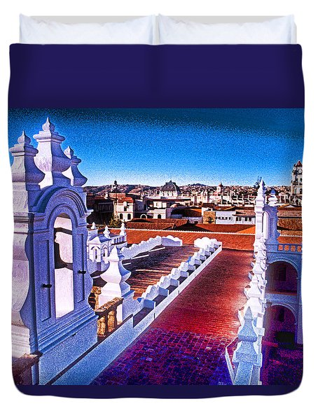 Sucre Convent Duvet Cover by Dennis Cox WorldViews