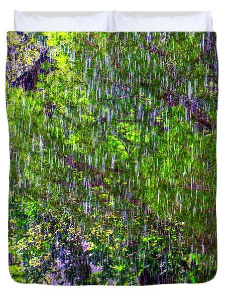 Sudden Downpour Duvet Cover