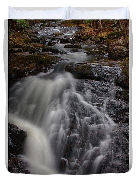 Duvet Cover featuring the photograph Sudden Dropoff by Jeff Folger