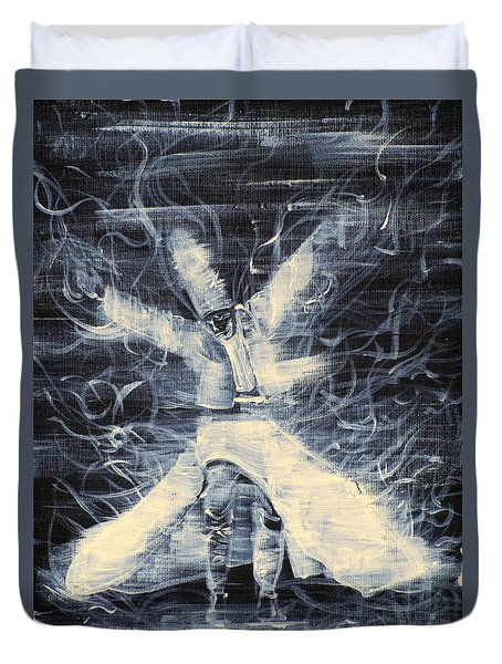 Sufi Whirling  - February 14,2013 Duvet Cover by Fabrizio Cassetta