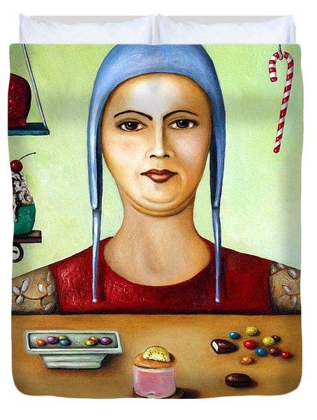 Sugar Addict Duvet Cover by Leah Saulnier The Painting Maniac