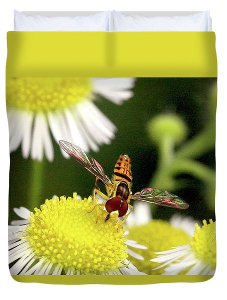 Duvet Cover featuring the photograph Sugar Bee Wings by Meta Gatschenberger