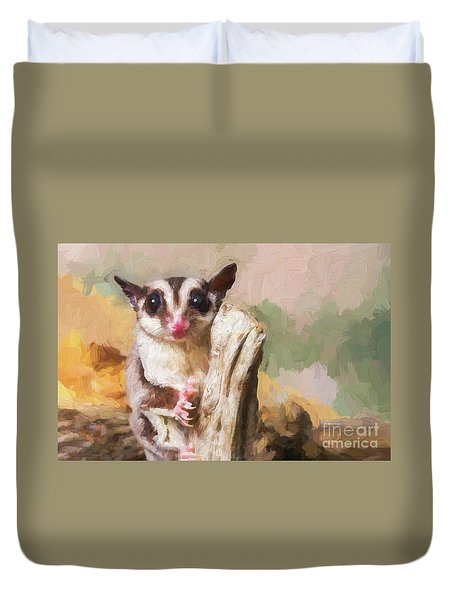 Sugar Glider - Painterly Duvet Cover
