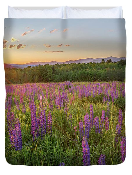 Sugar Hill New Hampshire Lupine Duvet Cover