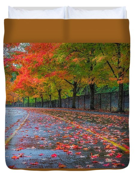 Sugar Maple Drive Duvet Cover by Ken Stanback