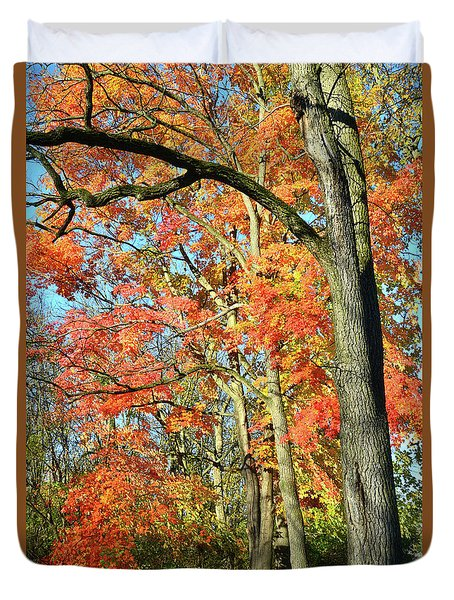 Duvet Cover featuring the photograph Sugar Maple Stand by Ray Mathis