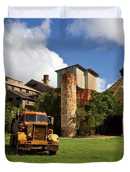Sugar Mill And Truck Duvet Cover by Roger Mullenhour