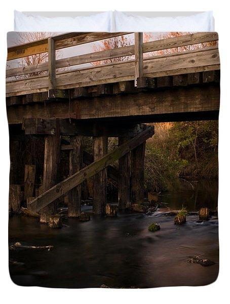 Sugar River Trestle Wisconsin Duvet Cover by Steve Gadomski