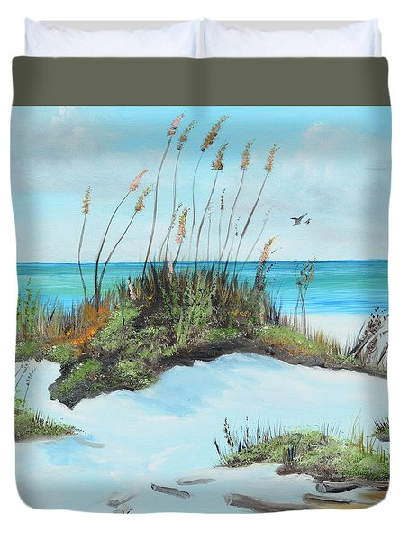 Sugar White Beach Duvet Cover