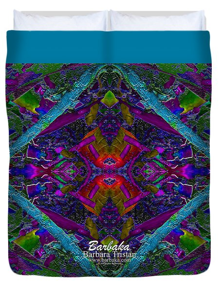 Duvet Cover featuring the photograph Sugarapsa by Barbara Tristan