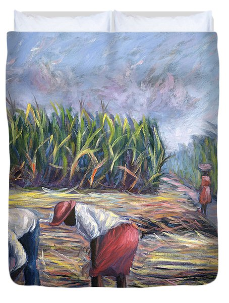 Sugarcane Harvest Duvet Cover