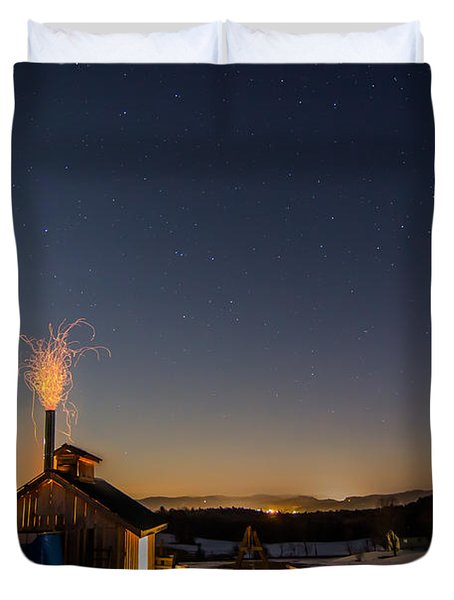 Sugaring View With Stars Duvet Cover