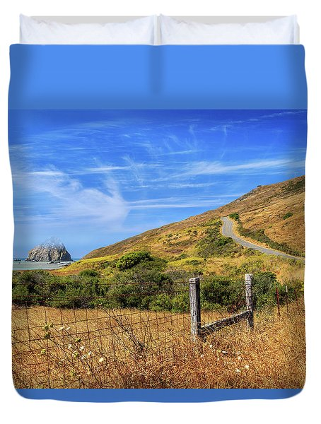 Duvet Cover featuring the photograph Sugarloaf Island On The Lost Coast by James Eddy