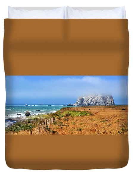 Duvet Cover featuring the photograph Sugarloaf Island Panorama by James Eddy