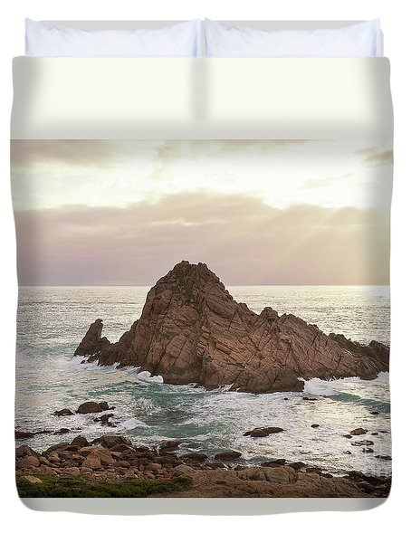 Duvet Cover featuring the photograph Sugarloaf Rock Sunset by Ivy Ho