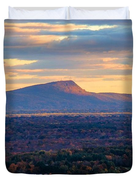 Sugarloaf View, South Deerfield, Ma Duvet Cover