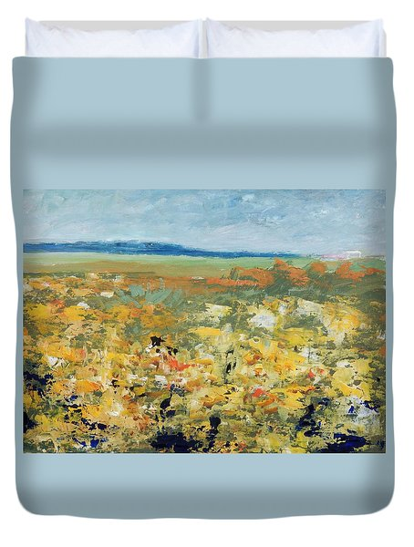 Suggestion Of Flowers Duvet Cover