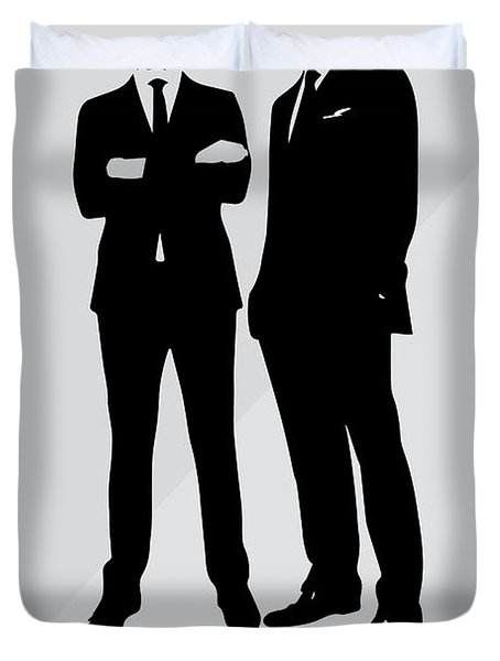 Suits Tv Show Poster Harvey Quote - Winners Don't Make Excuses Duvet Cover