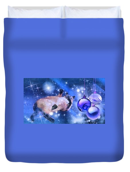 Sulley's Christmas Blues Duvet Cover