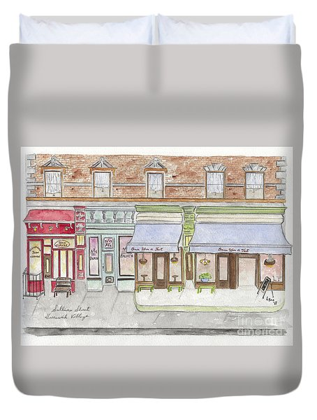 Sullivan Street In Soho Duvet Cover