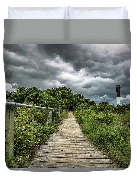 Sullivan's Island Summer Storm Clouds Duvet Cover