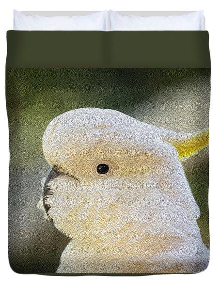 Sulphur Crested Cockatoo Duvet Cover by Avalon Fine Art Photography